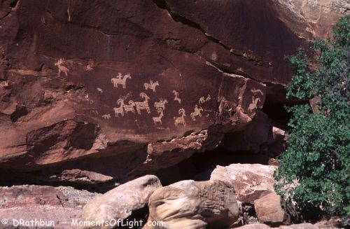 Sheep Rock Petroglyph Arches National Park Utah