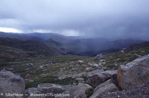 Storm Across the Valley Mount Evans Colorado